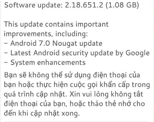 HTC One A9 Sprint starts receiving Nougat update