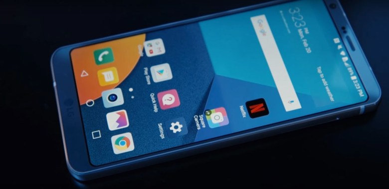 LG G6 first look user interface Android 7.11. Nougat