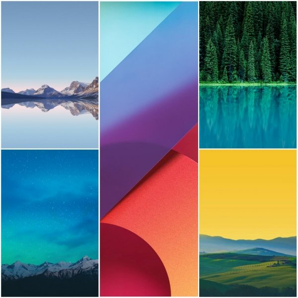 LG G6 stock wallpapers for download