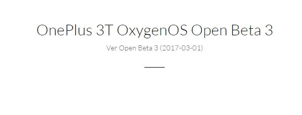 OnePlus 3T OxygenOS Open Beta 3 _ Downloads
