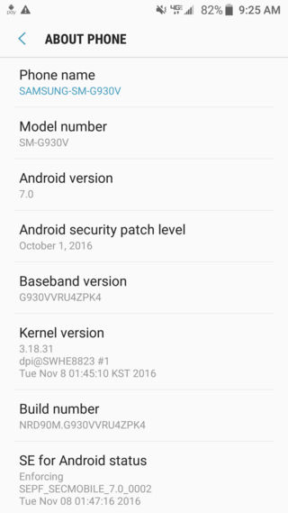 Download Verizon Galaxy S7 Edge Nougat OTA update G930V-G935V how to install