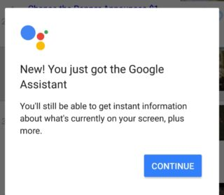 Google assistant being enabled