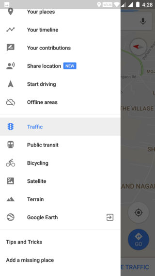 How to enable Share location option in Google Maps