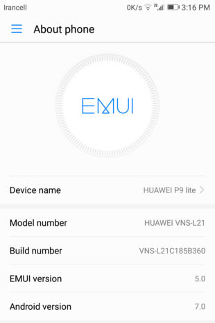 How to install Huawei P9 lite EMUI 5.0 Nougat update