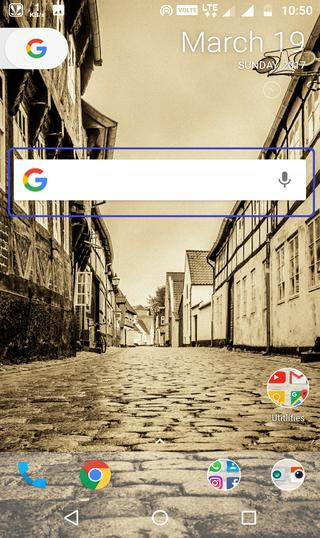 searchbar Ex widget home screen
