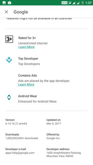 Sign up for Google App 6.14.16 beta program
