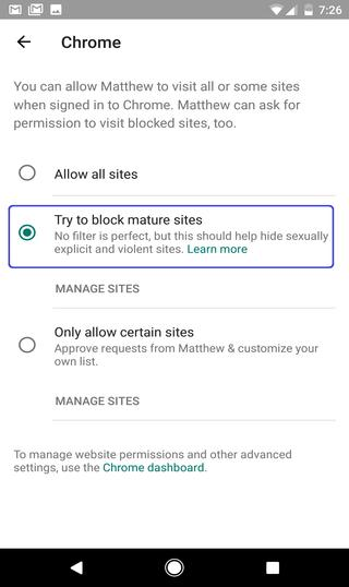 blocks adult content on Chrome