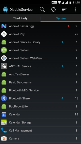 Disable serrvices OTA or system update services