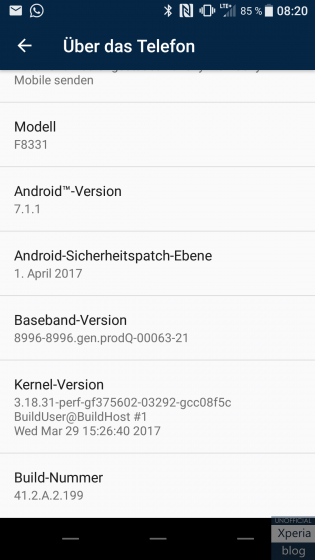 Download Sony Xperia XZ adn X Performance 41.2.A.2.199 full FTF firmware update