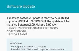 Download and install Sprint Galaxy Note 5 Nougat OTA with firmware build N920PVPU3DQC5