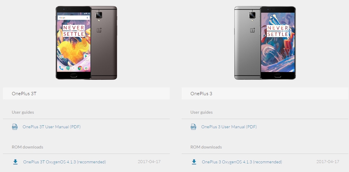 Downloads - OnePlus Oxygen OS Open Beta 15 for OnePlus 3 and Open Beta 6 for OnePlus 3T