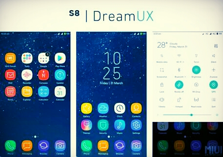 Samsung Galaxy S8 (Plus) themes for Xiaomi on stock MIUI firmware [Downloads]
