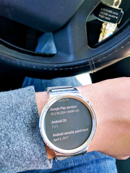 Huawei Watch Android Wear 2.0 OTA Android 7.1.1 Nougat