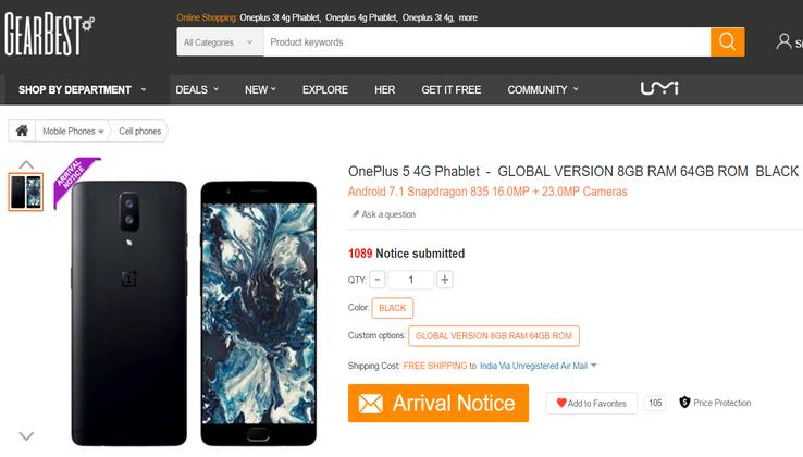 OnePlus 5 Gearbest