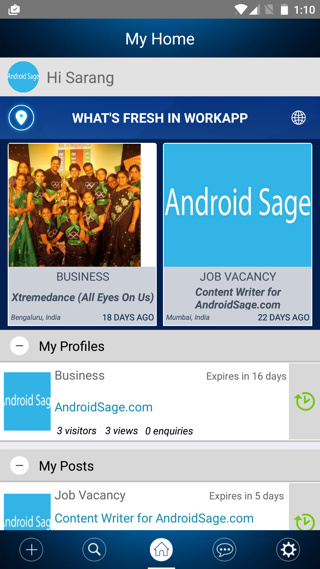 Promote business for free with Workapp Android
