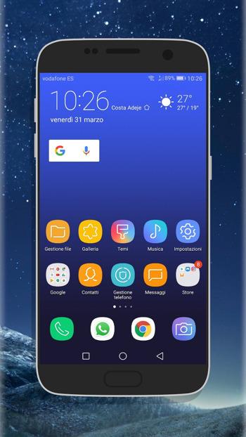 Samsung galaxy s8 Plus infinity display theme for Huawei on EMUI