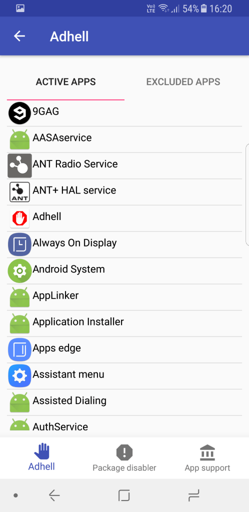 how to stop Ads in Samsung smartphones using Adhell