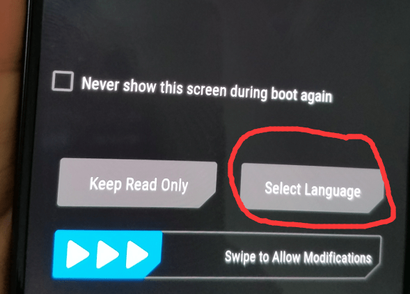 how to set language in twrp recovery