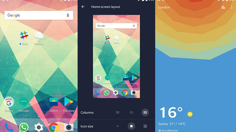 OnePlus Launcher 2.1 and Weather App V1.7.0 APK Download from latest H2OS Beta