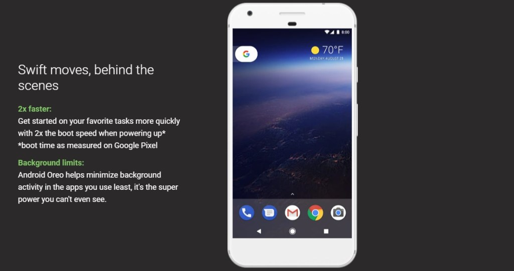 Android – 8.0 Oreo - 2x faster