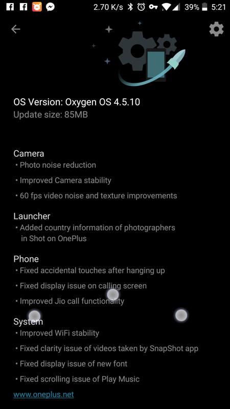 Download Oxygen OS 4.5.10 update Screenshot