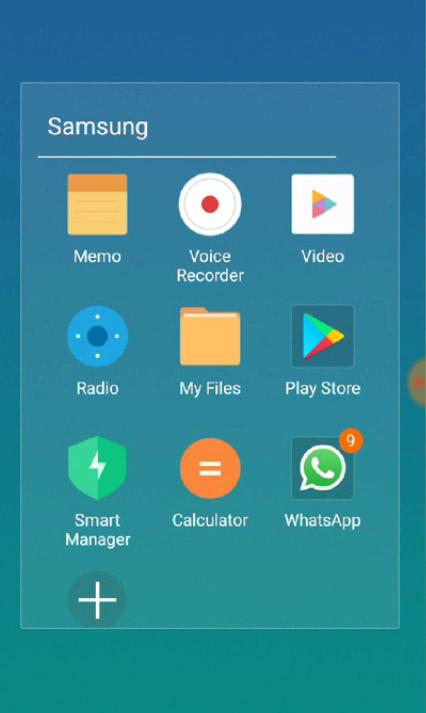 MIUI 9 styled folder