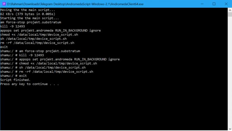 Andromeda Windows Command 2