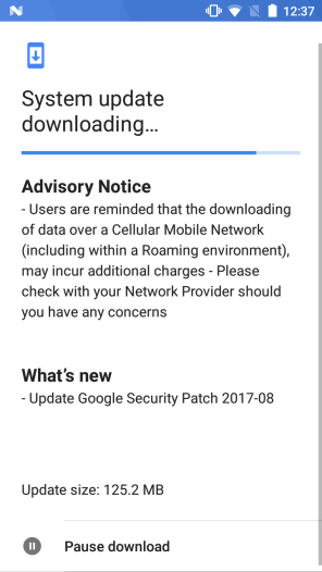 August 2017 security patch for Nokia 5