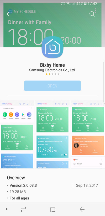 Bixby lowest rated app how to disable