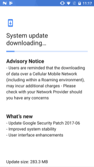 June 2017 security patch for Nokia 5
