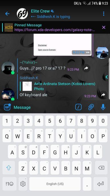 Note 8 app