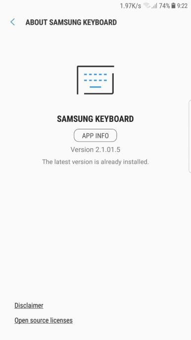 Note 8 keyboard app