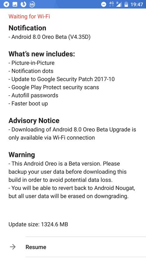 Nokia 8 Android 8.0 Oreo Beta update