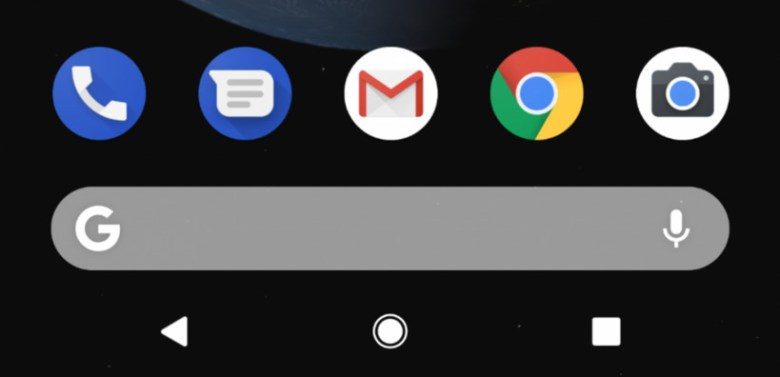 Old Bottom Search Bar on Google Pixel 2 XL