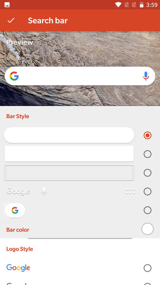 Pixel 2 Launcher's new Google Search Widget