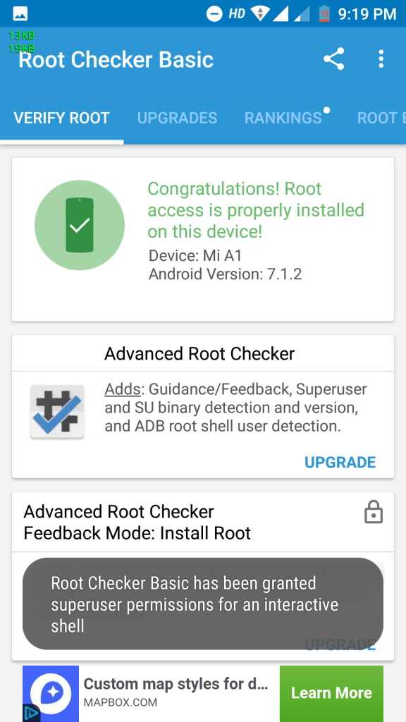 Root Xioami Mi A1 Android One Screenshot