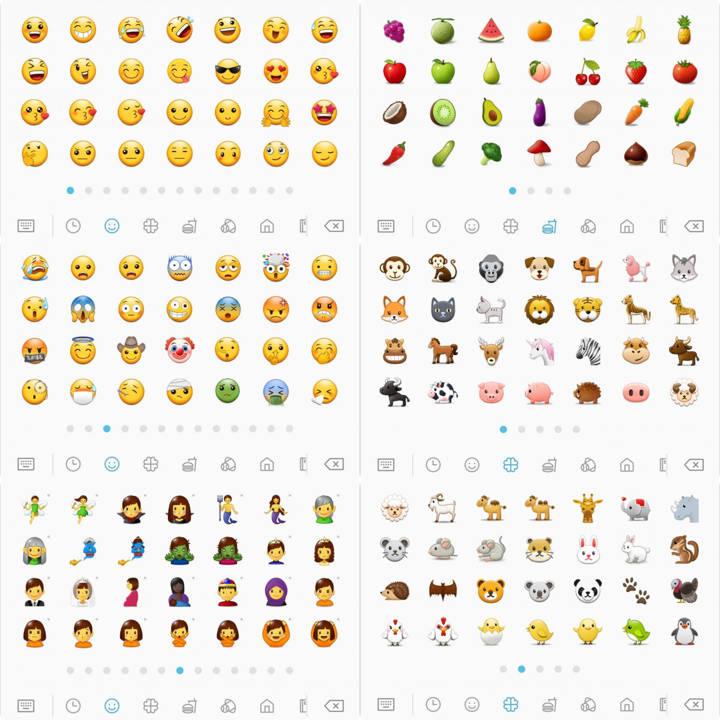 Samsung Experience 9.0 new Emoji from S8 Oreo Beta