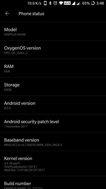 OnePlus 5 Open Beta 2 screenshot