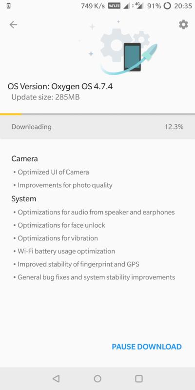 Oxygen OS 4.7.4 Screenshot