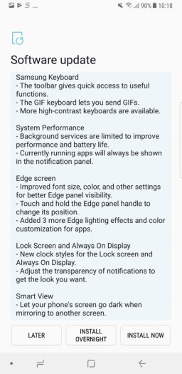 Note 8 Oreo update changelog 3