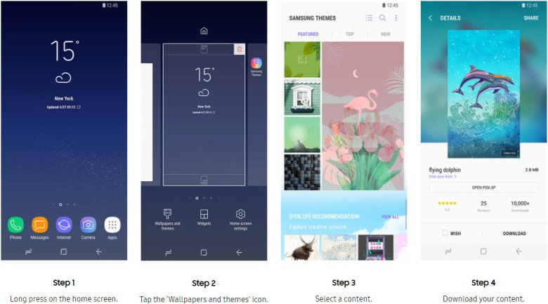 How to apply Samsung Themes