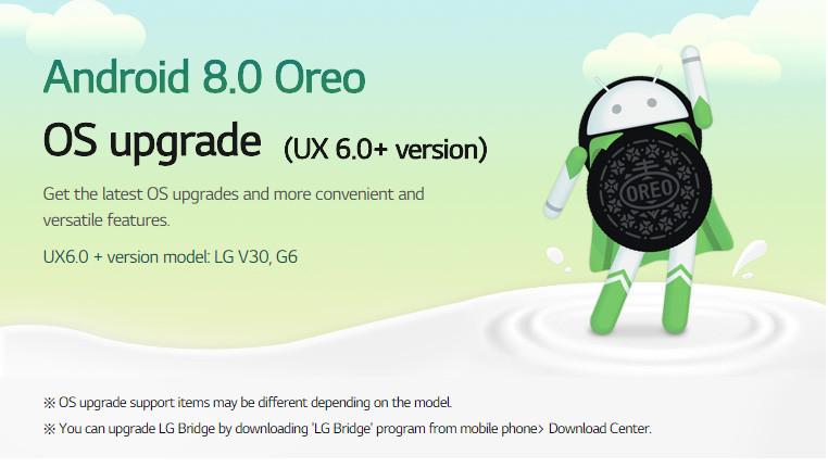 LG G6 Oreo update