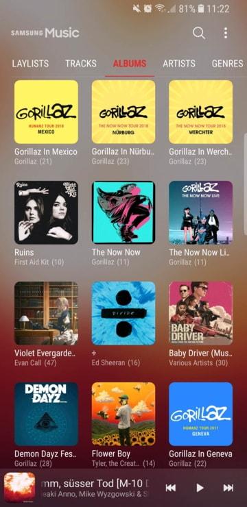 Samsung Music latest screenshots