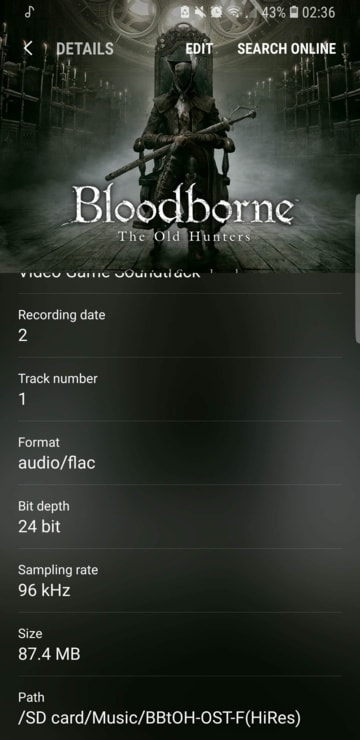 Samsung Music latest version supports flac formats