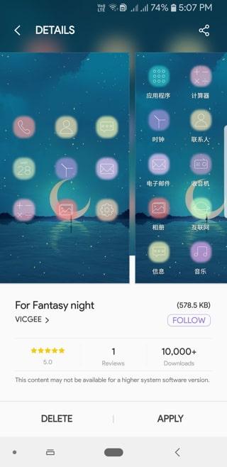 Fantasy night icon pack Screenshot_20180914-170746_Samsung Themes