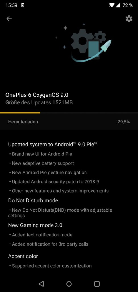 OnePlus 6 Oxygen OS 6.0 OTA download