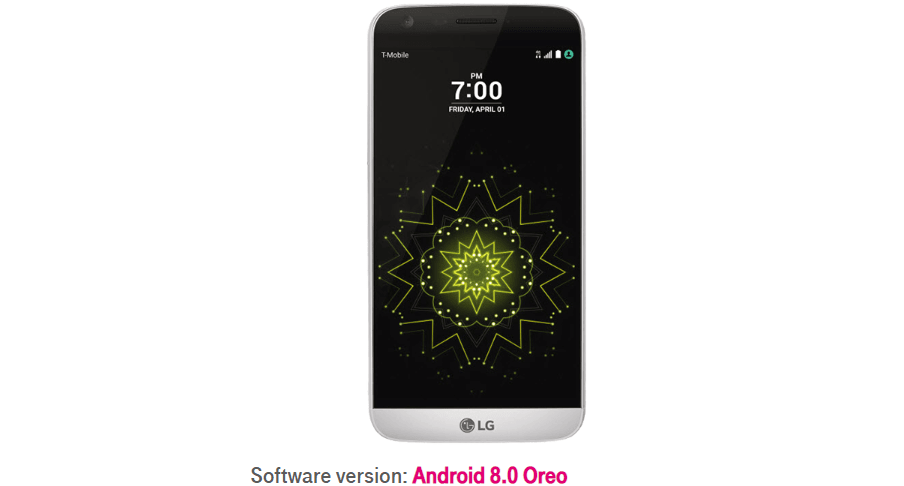 Verizon and T-Mobile LG G5 Android 8.0 Oreo KDZ Downloads [H83030c]