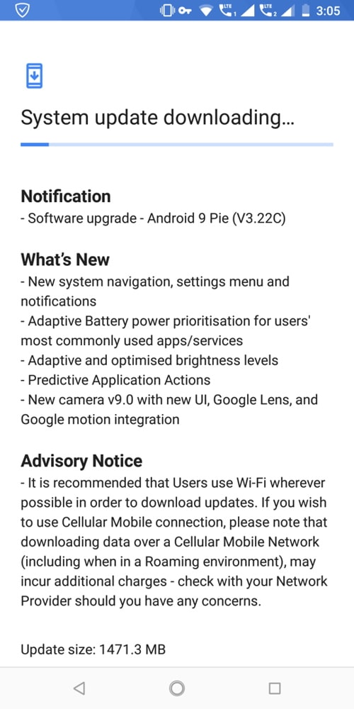 Download Nokia 7 Plus Android 9.0 Pie September 2018 Stable OTA update [WW 3.22C]