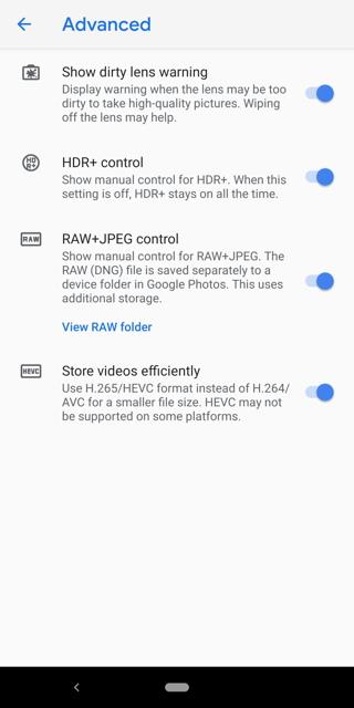 Google Pixel 3 camera features Screenshot2