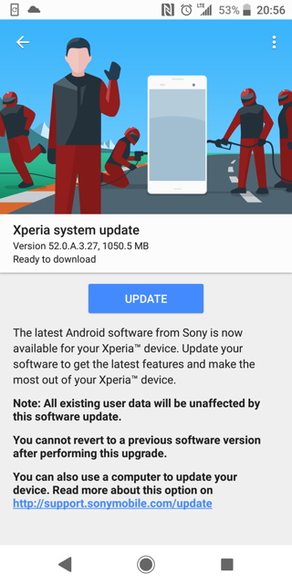 Sony Xperia XZ2 Android 9.0 Pie OTA update
